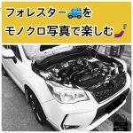 #フォレスター #モノクロ で検索(・∀・)モノクロ写真で愛車を楽しむ