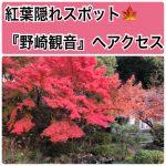 大阪の隠れ紅葉スポット『野崎観音』へアクセス
